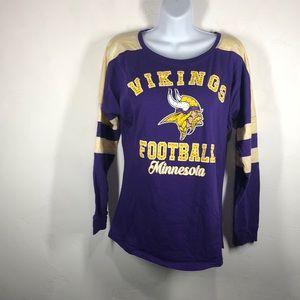 NFL Minnesota Vikings purple long sleeve tee small